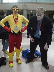 Kid Flash and Solomon Grundy