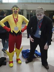 Kid Flash and Solomon Grundy