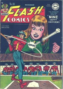 [Cover: Flash Comics #90: Nine Empty Uniforms]