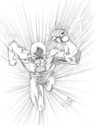 Francis Manapul Sketches the Flash