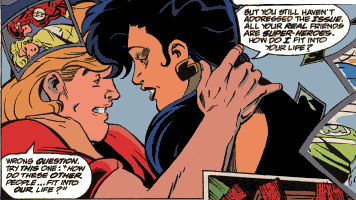 Wally West & Linda Park  (Art from Flash #83, 1993)