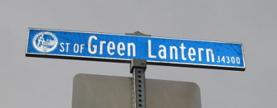 Sign: Street of the Green Lantern