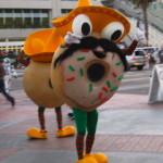 Walking Donut in a Sombrero