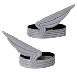 Winged pant clips.