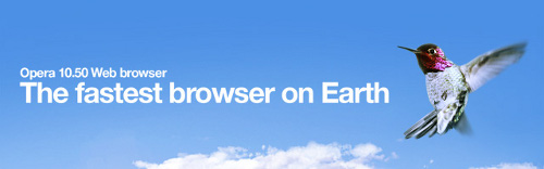 Opera 10.50 Web Browser: The Fastest Browser on Earth
