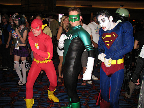 The Flash, Green Lantern, and Bizarro