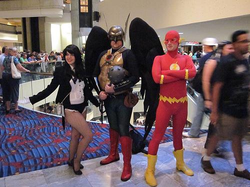 Zatanna, Hawkman, Flash