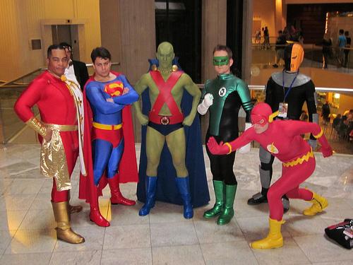 Captain Marvel, Superman, Martian Manhunter, Green Lantern, Slade, Flash