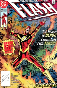 Flash v2 #50 featuring Flash's new belt.