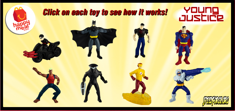 McDonalds Young Justice Happy Meal Promotion Starts Today