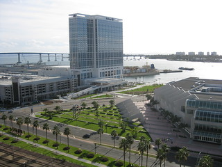 San Diego Convention Center and Hilton.