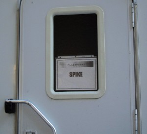 Spike's dressing room trailer