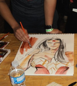 Wonder Woman in progress, by Francis Manapul
