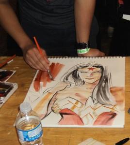 Wonder Woman in progress, by Francis Manapul
