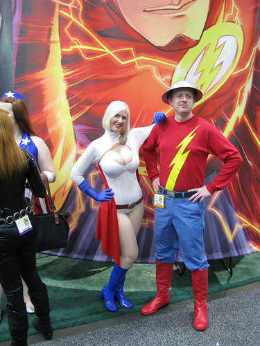 Power Girl and Flash