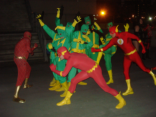 Flash vs. HYDRA Henchmen at Dragon*Con 2010 by fnordy1