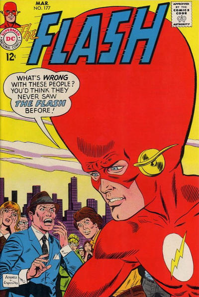 Flash with a giant head (The Flash #177)