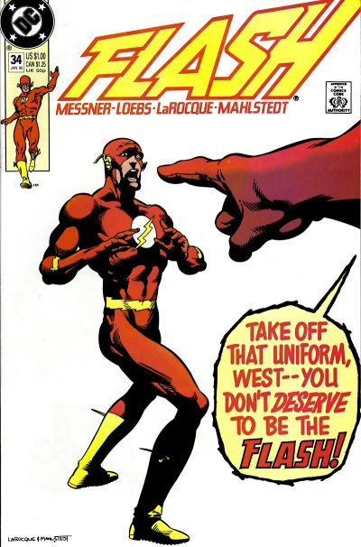 Flash #34: Take off that uniform, West -- You don't deserve to be the Flash!