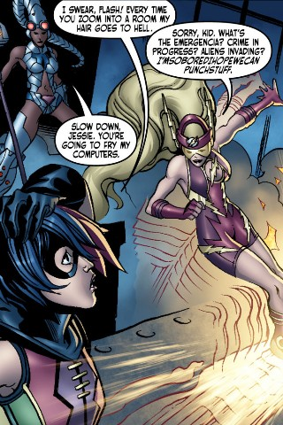 Jesse Quick as the Flash in Ame-Comi: Duela Dent #2