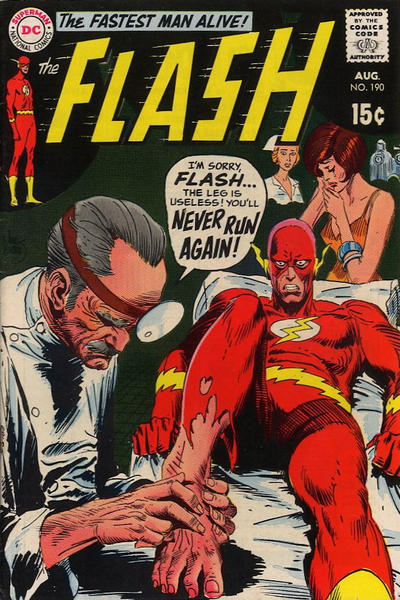 Flash #190 cover by Joe Kubert