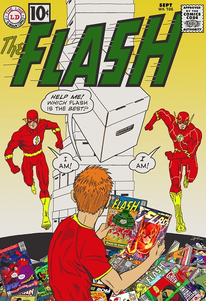 Flash of Two Worlds featuring Earth-1 and New 52 Barry Allen by Xum Yukinori. Help me! Which Flash is best?
