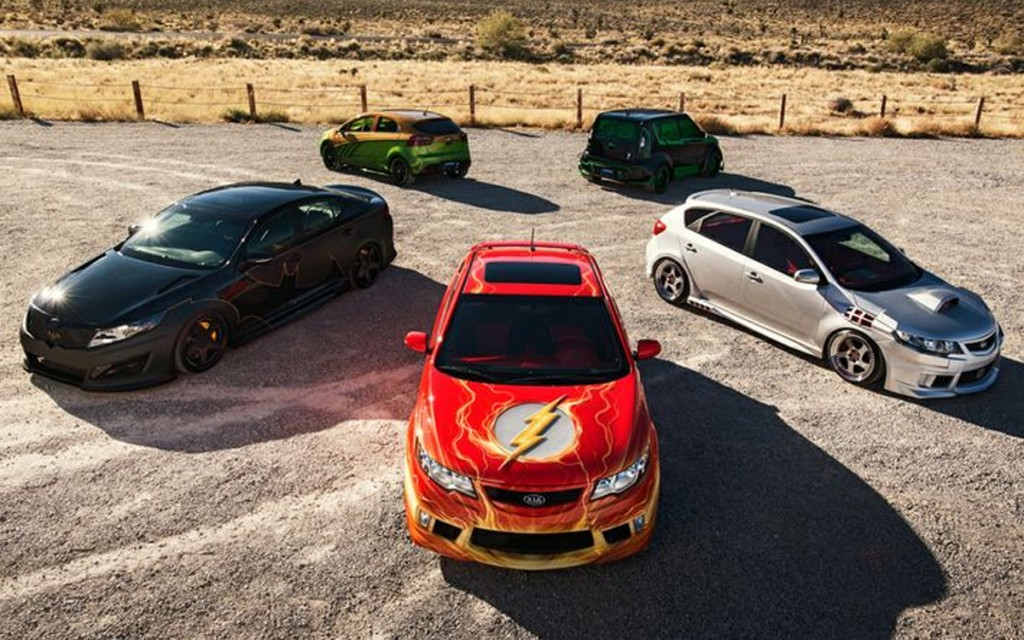 Kia And Dc Comics Unveil Flash Themed Car At Sema Trade