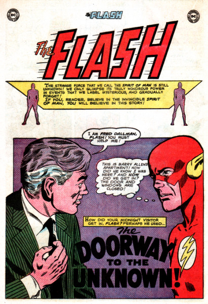 Doorway to the Unknown: Splash Page (Flash #148)