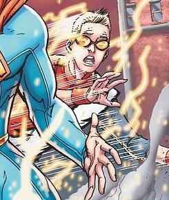 Impulse on the cover of Smallville Season 11 #10 by Scott Kolins
