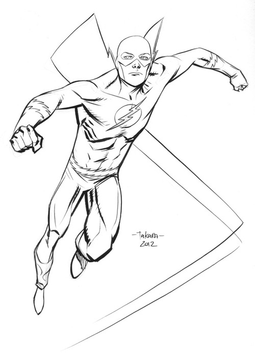 flash coloring pages marvel - photo#11