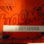 Box closeup: Number 0001/2000