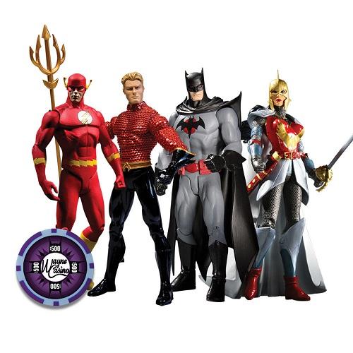 Flashpoint Action Figures (Flash, Aquaman, Batman, Wonder Woman)