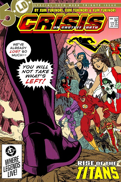 Crisis on Castoff Earth by Xum Yukinori, featuring Wally West, Donna Troy, Cassandra Cain, Stephanie Brown and more