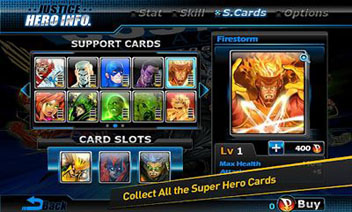 Justice League: Earth's Final Defense - Support Cards