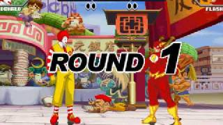 Pocket Fighter: Flash vs. Ronald McDonald