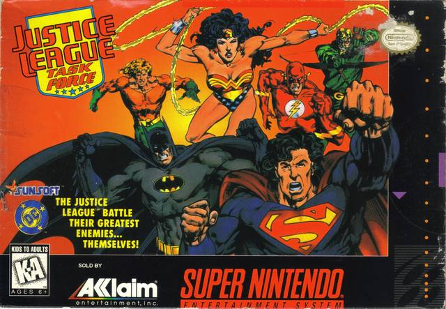Justice League Task Force SNES Cover