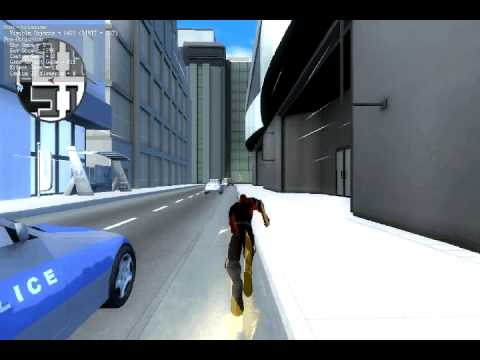 Flash video game: running