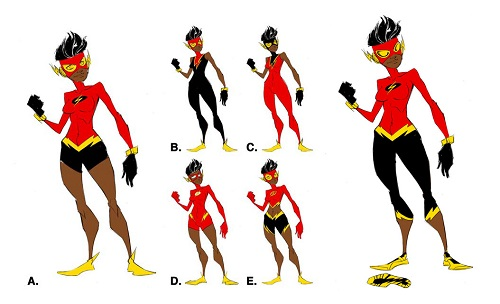 Flash Beyond (Danica) Character Designs