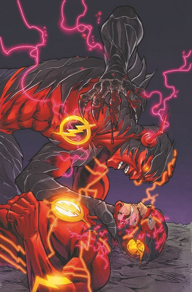 Flash vs. Reverse Flash on the cover of Flash #23