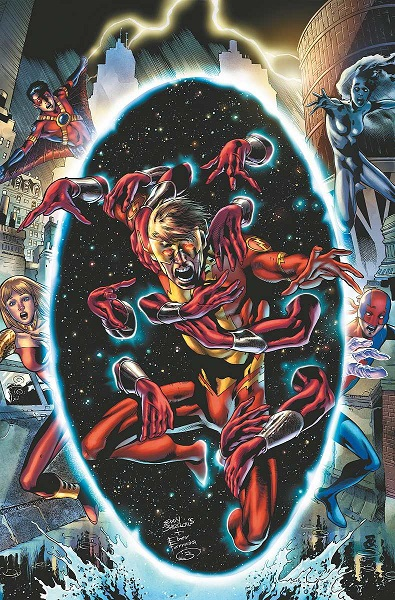 Kid Flash on the cover of Teen Titans #23