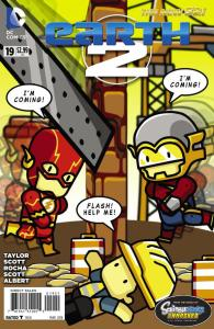 Earth 2 #19 Scribblenauts variant Flash of Two Worlds homage