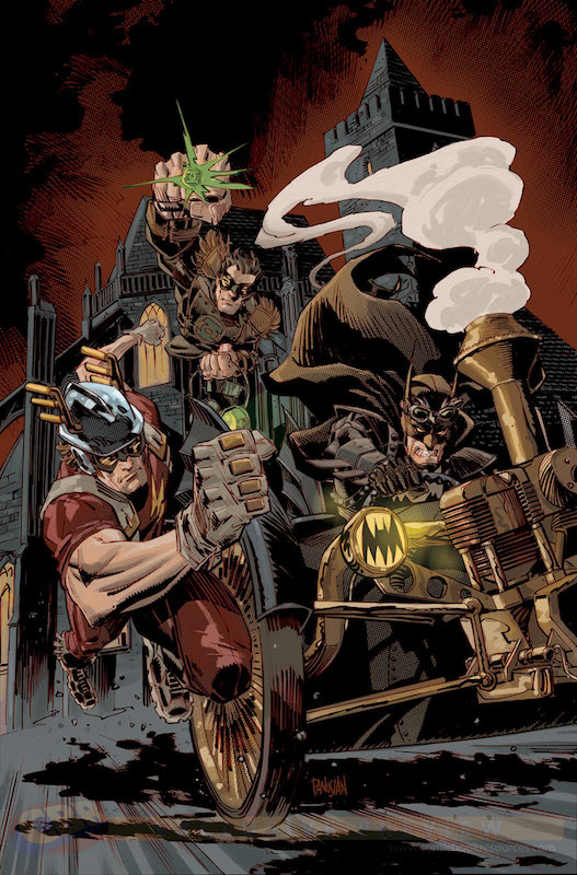 Earth 2 #20 Steampunk variant by Dan Panosian
