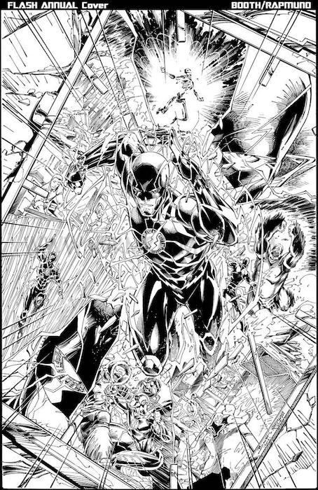 Flash Annual 3 black and white cover