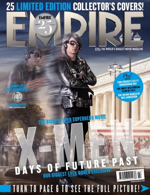 Empire Magazine: Quicksilver in X-Men: Days of Future Past