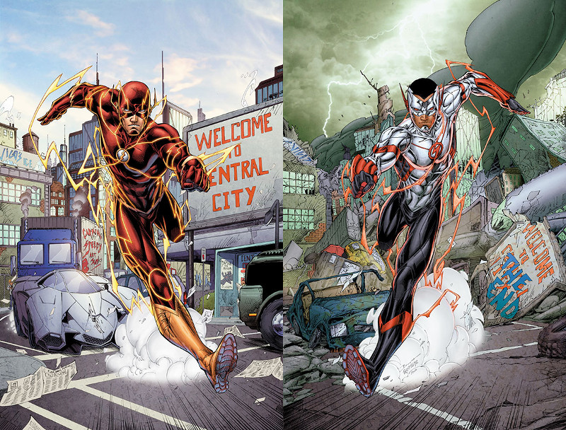 Flash Future's End cover images side by side