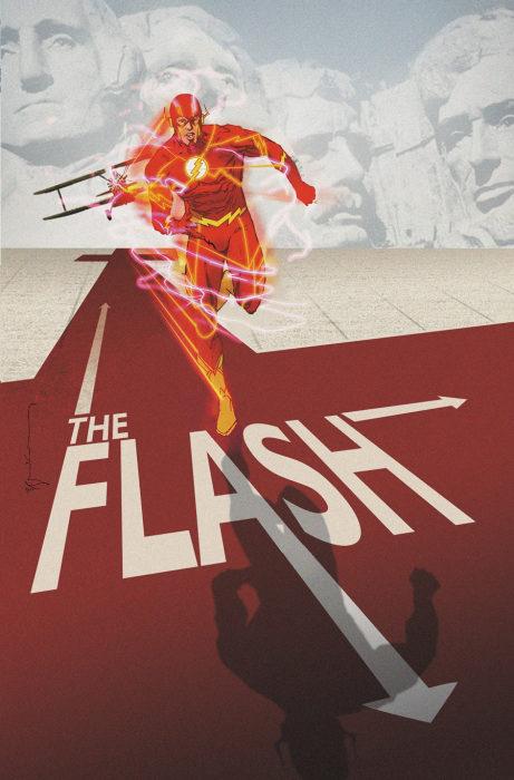 Flash 40 Movie Poster Variant: North by Northwest by Bill Sienkiewicz