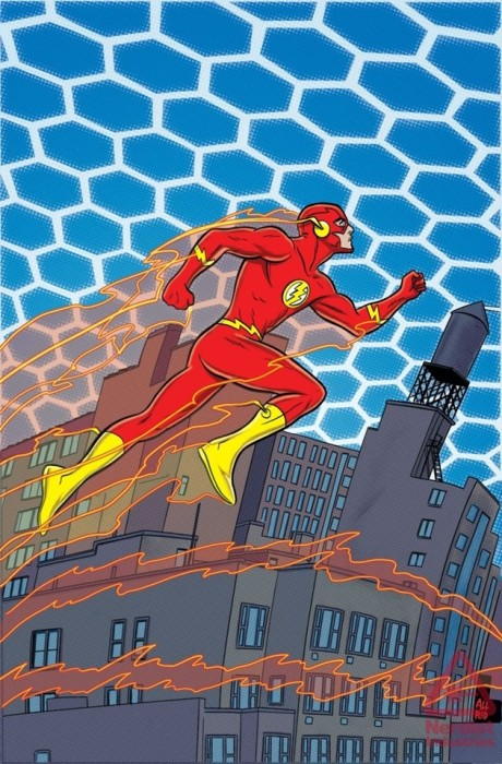 Convergence: The Flash #1 cover by Michael Allred