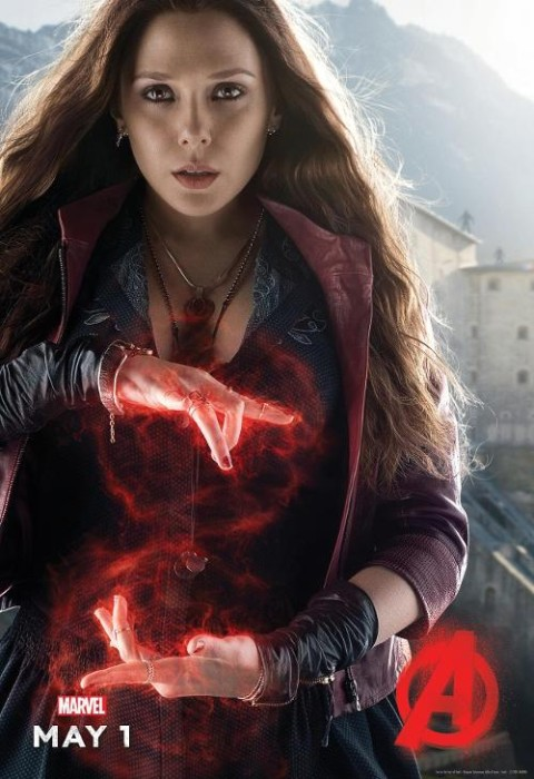 Scarlet Witch character poster for Avengers: Age of Ultron