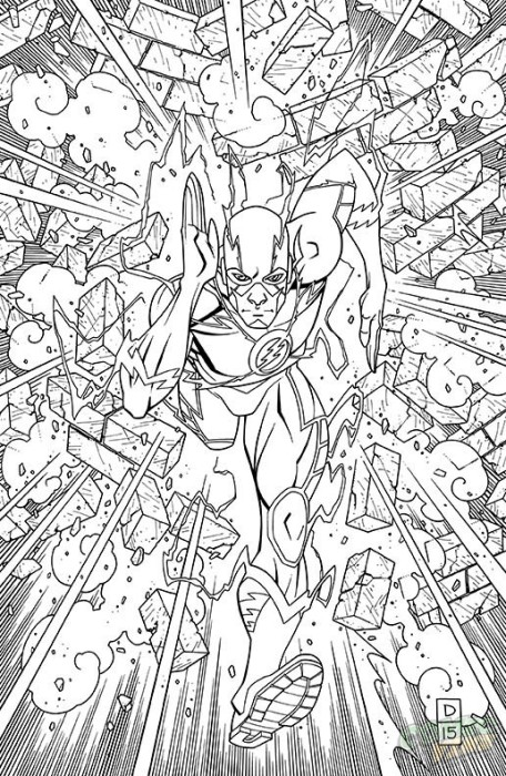 Flash #48 Coloring Book Variant Cover by Derec Donovan