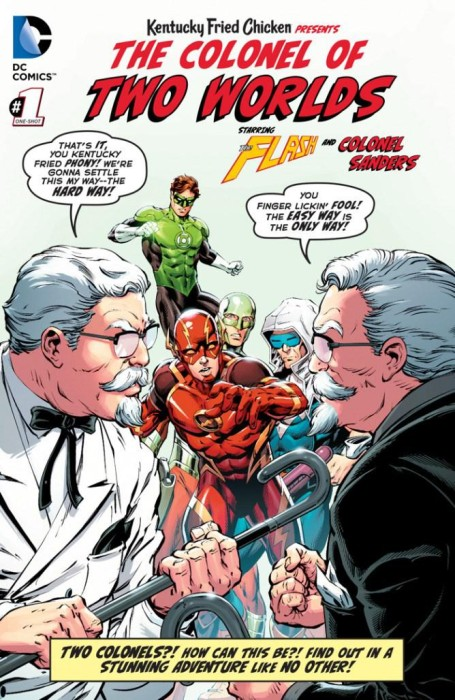 Flash GL and Colonel Sanders of Two Worlds (KFC)