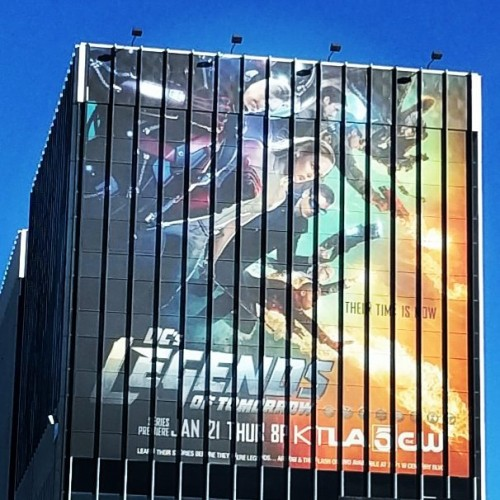 Legends of Tomorrow Building Wrap